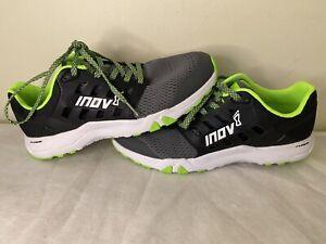 Inov8 Women's Men's AllTrain 215 Training Shoe Grey/Black/Green, US10W US8.5M