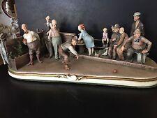 Capodimonte Giuseppe Cappe Porcelain Bocci Game Sculpture