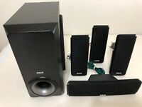 RCA RTD317W Surround Home Theater Set of 4 Speakers & Subwoofer 3 Ohm Multimedia