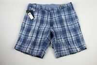 NWT POLO RALPH LAUREN Mens 100% LINEN Plaid Shorts INDIA MADRAS Classic Fit DD