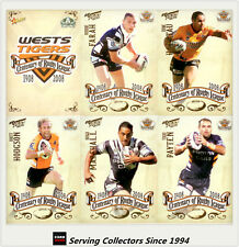 2008 NRL Centenary Of Rugby League Elite Players Card Team Set Wests Tigers (6)