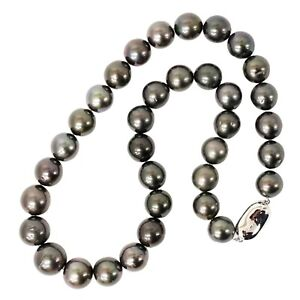 South Sea Black Pearl 11-13.5mm Necklace Pendant 44 cm 17.32 inch 81.0 g
