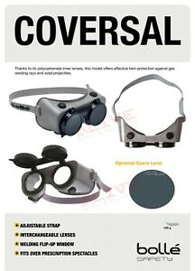 Bolle Safety Welding Goggles COVERSAL with Welding Shade 5 Lens UV Protection