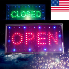 """Led 2-1 Open&Close Store Shop Business Sign 9.8*20.47"""" Display Neon Safe Use"""
