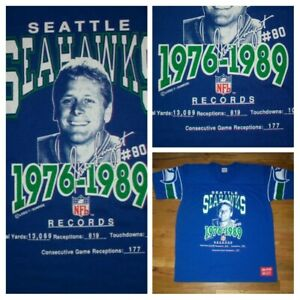 Seattle Seahawks Jersey Steve Largent Career game give away XL 50/50