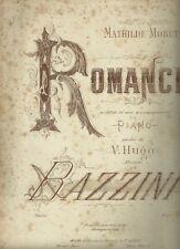 Spartito Musicale Romance en Clef de Sol Piano di A. Bazzini Patrole Victor Hugo