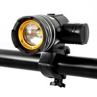 Zoomable T6 High Light Bycicle Headlamp Front Light USB Rechargeable Rainproof