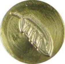 "Feather Wax Seal Stamp (3/4"" brass seal, brass handle), slightly irregular"