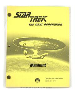 "STAR TREK: TNG ORIGINAL SCRIPT-  ""Manhunt,"" Written by Tracy Tormé"