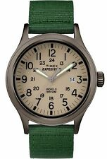 Timex TW4B06800 Men's Expedition Indiglo Gunmetal Tone Green Fabric Band Watch