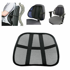Vent Cushion Mesh Back Lumbar Relif Support Car Office Chair Truck Seat Black