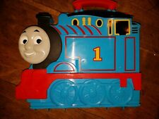 Thomas The Train Carrying Case Lot of 7 Train Engines Christmas Cars 2014