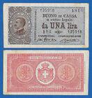 Italia 1 Lira Buono di Cassa 1917 Vittorio Emanuele III Pick # 36b SPL-