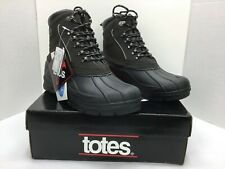 Totes Men Sz 11 M Brown Leather Thermolite Waterproof Insulated Winter Boots NIB