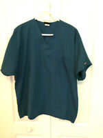 CHEROKEE WORKWEAR Women's Teal Blue Medical  scrub top.  size L