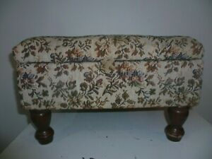 Vintage Floral Sewing Stool including Contents !