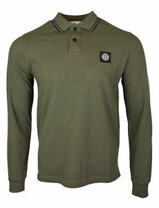 Stone Island AW19/20 Olive Long Sleeved Polo Shirt BNWT Free UK P&P!