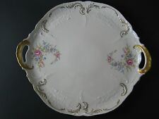 Antique Rosenthal-Handled Tray/ Plate-Floral-  Selb-Germany Sanssouci U.S. Zone