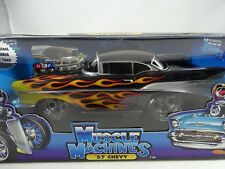 1:18 ERTL MUSCLE MACHINES 1957 Chevy Black with Flames - Rarity §