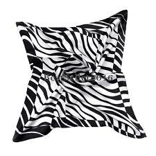 Fashion Ladies Lightweight Zebra Animal Print Satin  Shawl Scarf Wrap for Women
