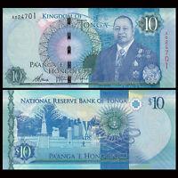 Tonga 10 Pa'anga Banknote, 2015, P-New 46, UNC, Oceania Paper Money