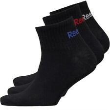 Reebok Original 3 Pack mens ankle Logo Socks in Black UK size 6.5 - 10 RBK300T