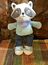 Baby Gear Racoon Plush Stuffed Toy Lovey with Sneakers and Scarf 12""