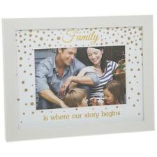 Family Photo Picture Gold Dot Design 4 x 6 270612