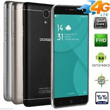 DOOGEE 3G 4G Smartphone Android7.0 16GB 2xSIM VR Handy 4 Kameras Fingerprint NEU