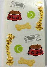 DOG TOYS Stickers(10pc)Mrs. Grossman's•Mans Best Friend•Bone •Biscuits•Ball•Pets