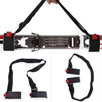 Unisex Ski Carrier Adjustable Shoulder Carry Strap Belt Clip Sling For Skiboard#
