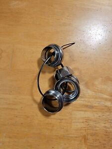 "80s Era 1"" External Cup Threaded Bike Headset 25.4 Chrome Unsealed Bearing Steel"