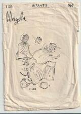 Vintage Pattern - Baby Layette - Weigel's Pattern 1136 - 1940s - Infant Size