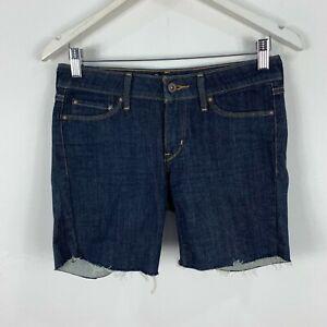 Levis Womens Shorts Size 26 Blue Denim Low Rise Zip Closure 69.04