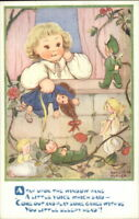 Fairy Fantasy Little Girl TAP UPON THE WINDOW PANE Phyllis Purser Postcard