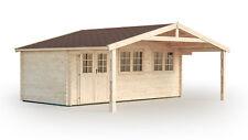 44 mm Gartenhaus Saar + Fußboden Gerätehaus Blockhaus Holzhaus Holzschuppen Holz