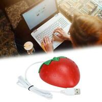 1xComputer Mouse Strawberry Optical USB Wired Game 1000DPI Mice Shape Cute C5I5