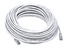 25FT CAT5e Cable Ethernet LAN Network RJ45 Patch Cord Internet White - 100 Pack