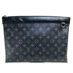 LOUIS VUITTON M62291 Monogram Eclipse Pochette Discovery Cluch Bag Hand bag