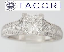2.15ct TACORI Classic Crescent HT2513PR 18K Princess Diamond Engagement Ring GIA