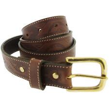 Charles Smith en Cuir Beige Polo Style gaufré ceinture taille 34-RRP £ 25