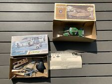 Rare Lindberg Centurion British Tank + Airfix Fairey Swordfish Box + Parts