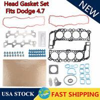 Head Gasket Bolts Set Fit 99-03 Dodge Dakota Durango RAM Jeep 4.7L SOHC VIN