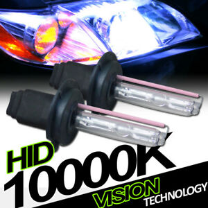 10000K Hid Xenon H7 Low Beam Headlights Headlamps Bulbs Pair Conversion Kit Vd4