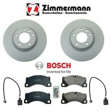 For Touareg Cayenne Set of Front Left&Right 360mm Brake Disc Rotor Pads & Sensor
