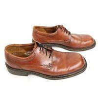 Ecco City US Men Sz US12 EU45-46 Brown Leather Square Toe Lace Up Oxford Shoes