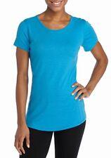 Columbia - L - NWT - Blue Omni-Wick Short Sleeve Slub Knit Crew Tee - Knit Top