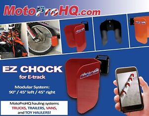 E track wheel chock for Motorcycle