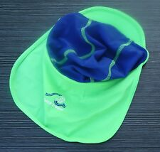 BABBLE BOOM BABIES SUN HAT GREEN / BLUE AGE 9-18 MONTHS DEBENHAMS