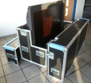 CaseTec Flightcase mobile Transportbox Truhe Koffer für LG Display 65""